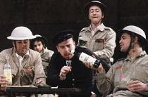 MAN EQUALS MAN   by Brecht   design: Ashley Martin Davis   lighting: Ben Ormerod   director: David Hayman ~centre: Timothy Spall (Galy Gay, the Porter of Kilkoa) ~Almeida Theatre, London N1...