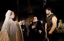 CARDENIO   after Shakespeare & Fletcher   reconstructed by Gregory Doran   design: Niki Turner   lighting: Tim Mitchell   director: Gregory Doran ~-r:  Lucy Briggs-Owen (Luscinda), Nicholas Day (Don B...