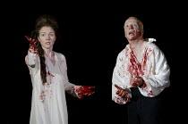 MACBETH   by Shakespeare   design: Tom Piper   lighting: Jean Kalman   director: Michael Boyd ~Aislin McGuckin (Lady Macbeth), Jonathan Slinger (Macbeth)~Royal Shakespeare Company (RSC) / Royal Shakes...