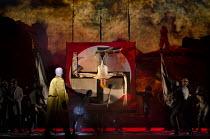 THE DAMNATION OF FAUST   by Berlioz   conductor: Edward Gardner   set design: Hildegard Bechtler   costumes: Katrina Lindsay   lighting: Peter Mumford   director: Terry Gilliam   closing moments - Fa...