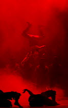THE DAMNATION OF FAUST   by Berlioz   conductor: Edward Gardner   set design: Hildegard Bechtler   costumes: Katrina Lindsay   lighting: Peter Mumford   director: Terry Gilliam   suspended in a strai...