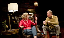 A DELICATE BALANCE   by Edward Albee   design: Laura Hopkins   lighting: Guy Hoare   director: James Macdonald ~Penelope Wilton (Agnes), Tim Pigott-Smith (Tobias)~Almeida Theatre, London N1   12/05/20...