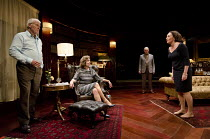 A DELICATE BALANCE   by Edward Albee   design: Laura Hopkins   lighting: Guy Hoare   director: James Macdonald ~l-r: Ian McElhinney (Harry), Diana Hardcastle (Edna), Tim Pigott-Smith (Tobias) , Lucy C...