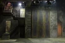 MACBETH   by Shakespeare   design: Francis O'Connor   lighting: Colin Grenfell   director: Gemma Bodinetz ~stage   set   empty~Liverpool Everyman, Liverpool England   12/05/2011