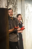 MACBETH   by Shakespeare   design: Francis O'Connor   lighting: Colin Grenfell   director: Gemma Bodinetz ~David Morrissey (Macbeth), Julia Ford (Lady Macbeth) ~Liverpool Everyman, Liverpool England...