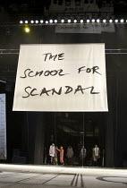 THE SCHOOL FOR SCANDAL   by Sheridan   set design: Jeremy Herbert   costumes: Kandis Cook   lighting: Jean Kalman   director: Deborah Warner ~stage   set   caption~bite11 / Barbican Theatre, London EC...