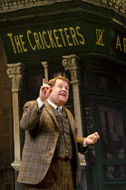 ONE MAN, TWO GUVNORS   by Richard Bean   after Goldoni's 'The Servant of Two Masters'   design: Mark Thompson   lighting: Mark Henderson   director: Nicholas Hytner ~~James Corden (Francis Henshall)~L...