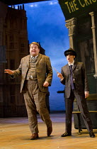 ONE MAN, TWO GUVNORS   by Richard Bean   after Goldoni's 'The Servant of Two Masters'   design: Mark Thompson   lighting: Mark Henderson   director: Nicholas Hytner ~~James Corden (Francis Henshall),...