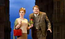 ONE MAN, TWO GUVNORS   by Richard Bean   after Goldoni's 'The Servant of Two Masters'   design: Mark Thompson   lighting: Mark Henderson   director: Nicholas Hytner ~~Suzie Toase (Dolly), James Corden...