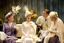 PYGMALION   by Bernard Shaw   design & direction: Philip Prowse   lighting: Gerry Jenkinson ~~l-r: Marty Cruickshank (Mrs Eynsford Hill), Kara Tointon (Eliza Doolittle), Peter Sandys Clarke (Freddy Ey...
