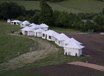 picnic tents Garsington Opera at Wormsley, near High Wycombe, Buckinghamshire, England   06/2011