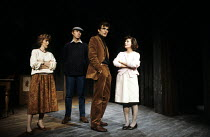 BENEFACTORS   by Michael Frayn   design: Michael Annals   lighting: Rory Dempster   director: Michael Blakemore ~l-r: Patricia Hodge (Jane), Tim Pigott-Smith (Colin), Oliver Cotton (David), Brenda Ble...