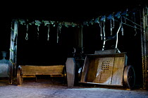 THE BEGGAR'S OPERA   by John Gay   design: William Dudley   lighting: Oliver Fenwick   director: Lucy Bailey   set   props   coffin   noose   cart Open Air Theatre (OAT) / Regent's Park, London NW1...