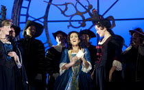 MARIA DI ROHAN   by Donizetti   conductor: Andrew Greenwood   design: Francis O'Connor   lighting: John Bishop   director: Stephen Medcalf ~centre: Mary Plazas (Maria)~Buxton Festival production   The...