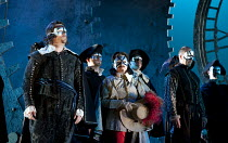 MARIA DI ROHAN   by Donizetti   conductor: Andrew Greenwood   design: Francis O'Connor   lighting: John Bishop   director: Stephen Medcalf ~left: John Bellemer (Riccardo, Count of Chalais)   2nd from...