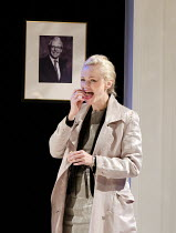 LOYALTY   by Sarah Helm   design: Francis O'Connor   lighting: Ben Ormerod   director: Edward Hall   Maxine Peake (Laura) Hampstead Theatre (HT), London NW3   20/07/2011