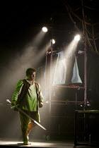 SIEGFRIED   by Wagner   conductor: Anthony Negus   design: Kjell Torriset   lighting: Guy Hoare   director: Alan Privett   Siegfried (Daniel Brenna) prepares to slay the dragon Fafner (Julian Close,...
