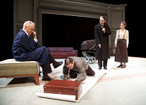 RATTIGAN'S NIJINSKY   by Nicholas Wright   based on a screenplay by Terence Rattigan   design: Mike Britton   lighting: Johanna Town   director: Philip Franks ~l-r: Malcolm Sinclair (Terence Rattigan)...