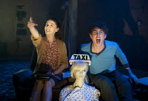 DISCO PIGS   by Enda Walsh   design: Chloe Lamford   lighting: Anna Watson   director: Cathal Cleary ~Charlie Murphy (Runt), Rory Fleck-Byrne (Pig) ~The Young Vic (YV), London SE1   09/09/2011