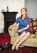 WHEN DID YOU LAST SEE MY MOTHER?   by Christopher Hampton   design: Nicky Bunch   lighting: Greg Gould   director: Blanche McIntyre   Abigail Cruttenden (Mrs Evans) Trafalgar Studios 2, London SW1...
