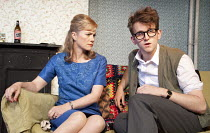 WHEN DID YOU LAST SEE MY MOTHER?   by Christopher Hampton   design: Nicky Bunch   lighting: Greg Gould   director: Blanche McIntyre   Abigail Cruttenden (Mrs Evans), Harry Melling (Ian) Trafalgar St...