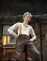 THE PLAYBOY OF THE WESTERN WORLD   by J M Synge   design: Scott Pask   lighting: Howard Harrison   director: John Crowley ~Robert Sheehan (Christopher Mahon)~Old Vic Theatre (OV), London SE1   27/09/2...