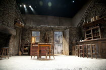 THE PLAYBOY OF THE WESTERN WORLD   by J M Synge   design: Scott Pask   lighting: Howard Harrison   director: John Crowley   stage   set   empty   bar   fireplace Old Vic Theatre (OV), London SE1   2...