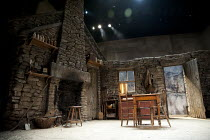 THE PLAYBOY OF THE WESTERN WORLD   by J M Synge   design: Scott Pask   lighting: Howard Harrison   director: John Crowley   stage   set   empty   fireplace Old Vic Theatre (OV), London SE1   27/09/2...