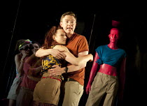 THE TWO GENTLEMEN OF VERONA   by Shakespeare   design: Paul Wills   lighting: Philip Gladwell   choreography: RashDash   director: Matthew Dunster ~Abbi Greenland (Julia), Joe Doyle (Valentine)~Theatr...