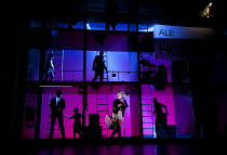 THE TWO GENTLEMEN OF VERONA   by Shakespeare   design: Paul Wills   lighting: Philip Gladwell   choreography: RashDash   director: Matthew Dunster ~stage   set   silhouette~Theatre Royal / Royal & Der...