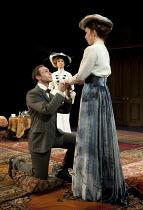 THE IMPORTANCE OF BEING EARNEST   by Oscar Wilde   director: Stephen Unwin ~l-r: Daniel Brocklebank (Jack Worthing / Earnest), Jane Asher (Lady Bracknell), Kirsty Besterman (Gwendolen Fairfax)~Rose of...