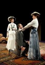 THE IMPORTANCE OF BEING EARNEST   by Oscar Wilde   director: Stephen Unwin ~l-r: Jane Asher (Lady Bracknell), Daniel Brocklebank (Jack Worthing / Earnest), Kirsty Besterman (Gwendolen Fairfax)~Rose of...