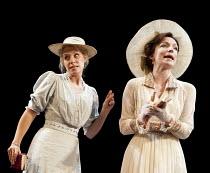THE IMPORTANCE OF BEING EARNEST   by Oscar Wilde   director: Stephen Unwin ~l-r:  Jenny Rainsford (Cecily Cardew), Kirsty Besterman (Gwendolen Fairfax)~Rose of Kingston, Surrey, England   05/10/2011