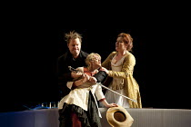 THE MARRIAGE OF FIGARO (Le nozze di Figaro)   by Mozart   conductor: Paul Daniel   design: Peter McIntosh   lighting: Jean Kalman   director: Fiona Shaw ~l-r: Roland Wood (Count Almaviva), Kathryn Rud...