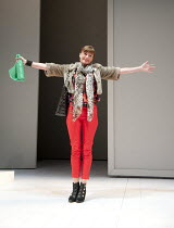 JUMPY   by April de Angelis   design: Lizzie Clachan   lighting: Peter Mumford   director: Nina Raine ~Doon Mackichan (Frances)~Jerwood Theatre Downstairs / Royal Court Theatre (RC), London SW1   19/1...