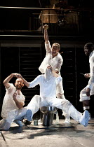 MARAT/SADE   by Peter Weiss   English version  by Geoffrey Skelton   design: Garance Marneur   lighting: Chahine Yavroyan   director: Anthony Neilson   torture with flames and waterboarding - clockwi...