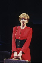 THE QUEEN AND I   by Sue Townsend   design: Fotini Dimou   lighting: Rick Fisher   director: Max Stafford-Clark ~Doon Mackichan (Princess Diana)~Royal Court  Theatre. London SW1   11/06/1994