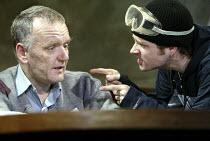 UNDER THE WHALEBACK   by Richard Bean   design: Julian McGowan   lighting: Johanna Town   director: Richard Wilson ~l-r: Alan Williams (Cassidy), Iain McKee (Darrel)~Jerwood Theatre Upstairs / Royal C...
