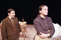 THE SHADOW OF THE GLEN   by J.M. Synge   director: John Crowley   Owen Sharpe (Michael), Mairead McKinley (Nora) Royal Shakespeare Company / The Other Place   Stratford-upon-Avon   26/02/1998