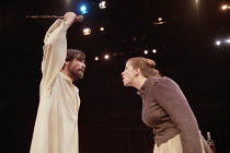 THE SHADOW OF THE GLEN   by J.M. Synge   director: John Crowley   Lalor Roddy (Dan), Mairead McKinley (Nora) Royal Shakespeare Company / The Other Place   Stratford-upon-Avon   26/02/1998