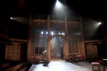 WRITTEN ON THE HEART  by David Edgar   design: Francis O'Connor   lighting: Tim Mitchell   director: Gregory Doran   stage   set   empty   church interior   lights Royal Shakespeare Company (RSC) /...