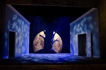DIE LUSTIGEN WEIBER VON WINDSOR   by Nicolai   after Shakespeare   conductor: Clive Timms   design: Tom Rogers   lighting: Colin Grenfall   director: Harry Fehr   stage   set   Windsor Park at night,...