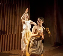 YERMA   by Federico Garcia Lorca   in a new version by Anthony Weigh   design: Ruth Sutcliffe   lighting: Mark Howland   director: Natalie Abrahami ~l-r: Ty Glaser (Yerma), Alison O'Donnell (Maria)~Hu...