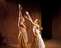 YERMA   by Federico Garcia Lorca   in a new version by Anthony Weigh   design: Ruth Sutcliffe   lighting: Mark Howland   director: Natalie Abrahami ~l-r: Alison O'Donnell (Maria), Ty Glaser (Yerma)~Hu...