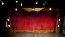 BURLESQUE   book & lyrics: Adam Meggido & Roy Smiles   music: Adam Meggido   design: Martin Thomas   lighting: Howard Hudson   director: Adam Meggido   stage   set   empty   prosecenium   curtain Je...