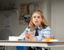 REASONS TO BE PRETTY   by Neil LaBute   design: Soutra Gilmour   lighting: Mark Henderson   director: Michael Attenborough ~Billie Piper (Carly)~Almeida Theatre, London N1   17/11/2011