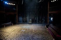 MEASURE FOR MEASURE   by Shakespeare   design: Garance Marneur   lighting: Chahine Yavroyan   director: Roxana Silbert   stage   set   empty   seats   lights Royal Shakespeare Company (RSC) / Swan T...