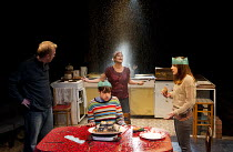 THE KITCHEN SINK   by Tom Wells   design: Ben Stones   lighting: Oliver Fenwick   director: Tamara Harvey   l-r: Steffan Rhodri (Martin), Ryan Sampson (Billy), Lisa Palfrey (Kath), Leah Brotherhead (...