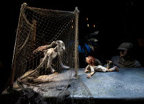 A VERY OLD MAN WITH ENORMOUS WINGS   by Anna Maria Murphy   puppetry director: Sarah Wright   design: Lyndie Wright   lighting: Malcolm Rippeth   director: Mike Shepherd ~Old Man, Boy ~in association...