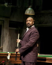THE COMEDY OF ERRORS   by Shakespeare   design: Bunny Christie   lighting: Paule Constable   director: Dominic Cooke ~Lenny Henry (Antipholus of Syracuse)~Olivier Theatre / National Theatre (NT), Lond...